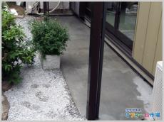 横浜市港北区戸建てにて雨水のたまらない様に工夫されたエクステリアリフォーム事例
