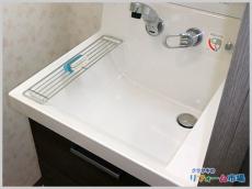 空いたスペース有効活用!壁付水栓の洗面化粧台へリフォーム