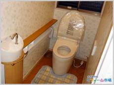 1日で完了するカウンター手洗器付タンクレストイレ