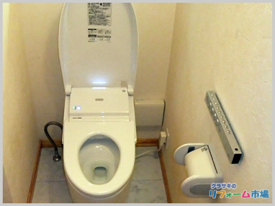 横浜市都筑区戸建てにて人気のタンクレストイレTOTOネオレストでのトイレリフォーム事例