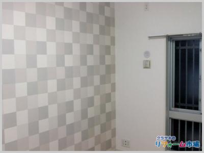 川崎市中原区マンションにて人気の機能性クロスサンゲツでの壁紙(クロス)リフォーム事例