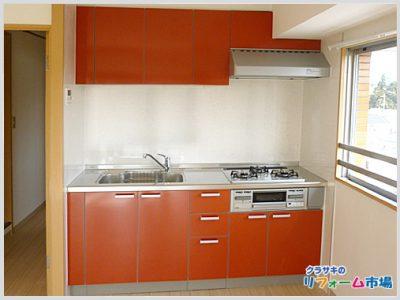 横浜市都筑区マンションにてクリナップラクエラシンシアシリーズでのキッチンリフォーム事例