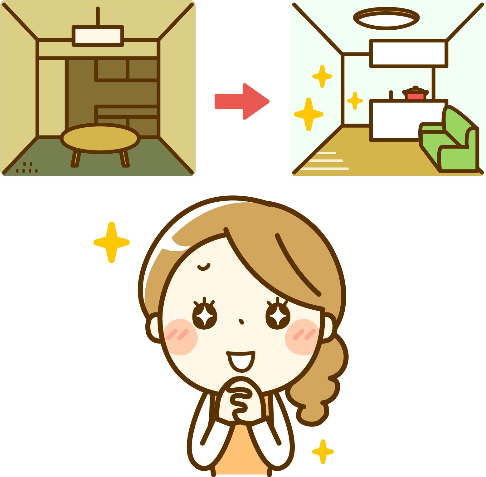 キッチンリフォームリビングダイニング