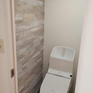 川崎市高津区マンションにて人気のTOTO HVウォシュレット一体型でのトイレリフォーム事例