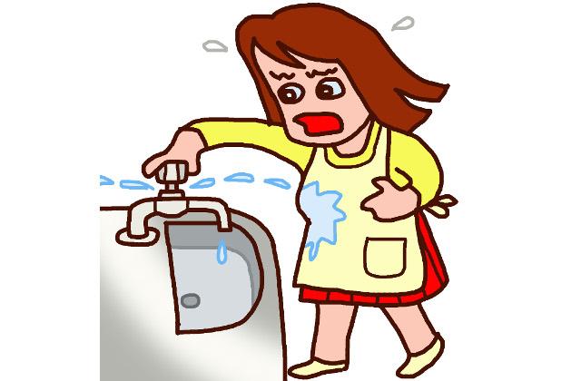 給水側の原因で多いのはパッキンの劣化